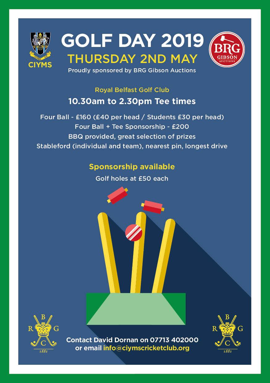 CIYMS Cricket Golf Day 2019