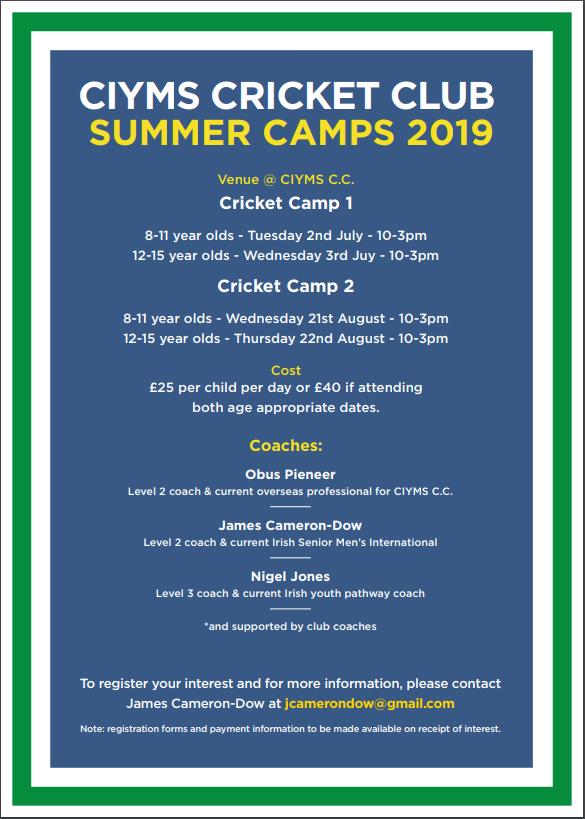 Club Offers - CIYMS Cricket Club